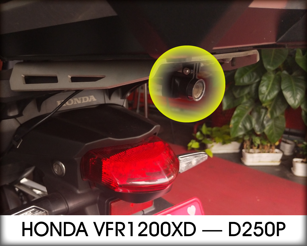 Honda vrf1200XD重機安裝D250P後鏡頭